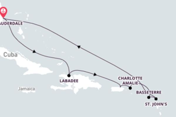 Fascinante passeio de 11 dias com o Vision of the Seas