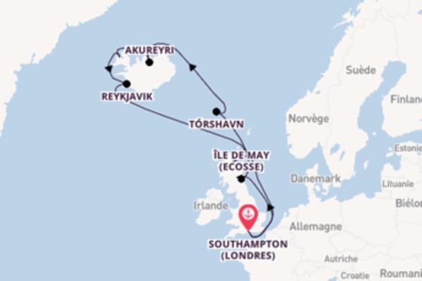 Fantastique balade de 15 jours à bord du bateau Queen Victoria