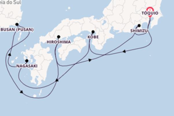 Magnífico cruzeiro até Tóquio