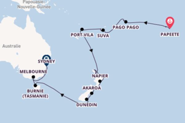 Contemplez à bord du bateau Seven Seas Mariner, la destination: Apia