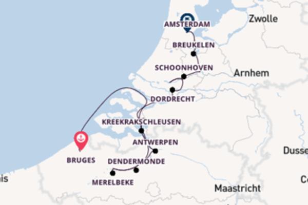 Zauberhafte Kreuzfahrt über Merelbeke, Belgien ab Bruges, Belgium