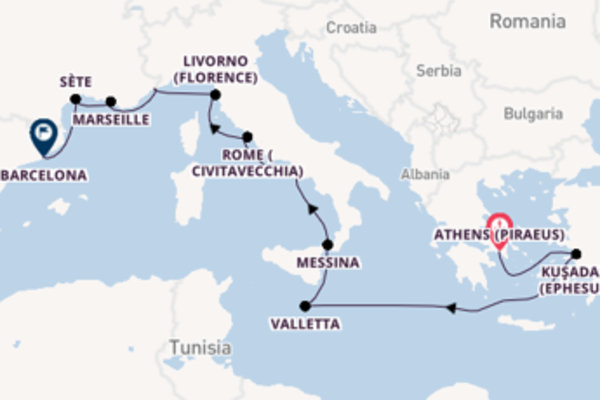 15 day voyage from Athens (Piraeus)
