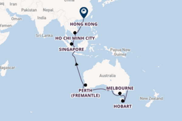 Cruising from Sydney to Hong Kong