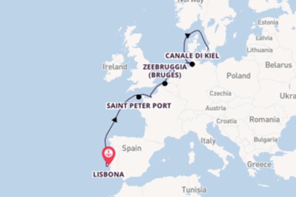 In rotta verso Copenhagen da Lisbona