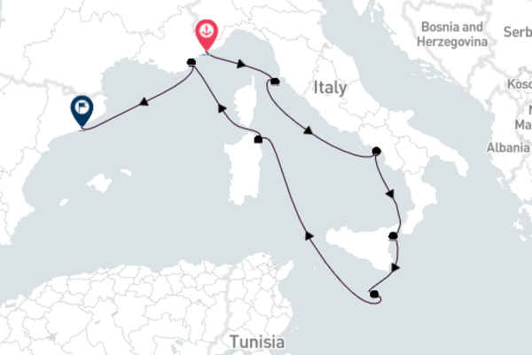 Monte Carlo to Barcelona with Seabourn Encore