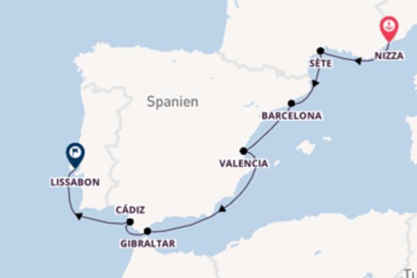 8-tägige Kreuzfahrt bis Lissabon