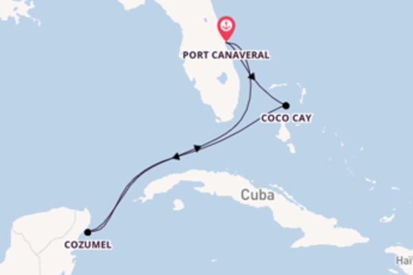 Coco Cay, depuis Port Canaveral à bord du bateau Mariner of the Seas