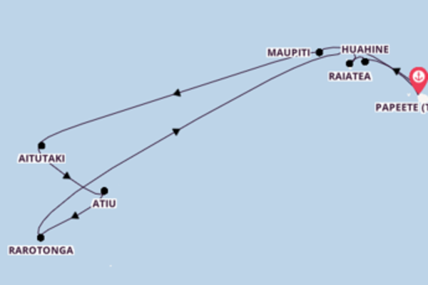 In 11 Tagen nach Papeete (Tahiti) über Raiatea