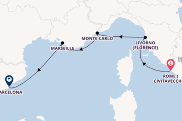 Cruise with Azamara Club Cruises from Rome (Civitavecchia)