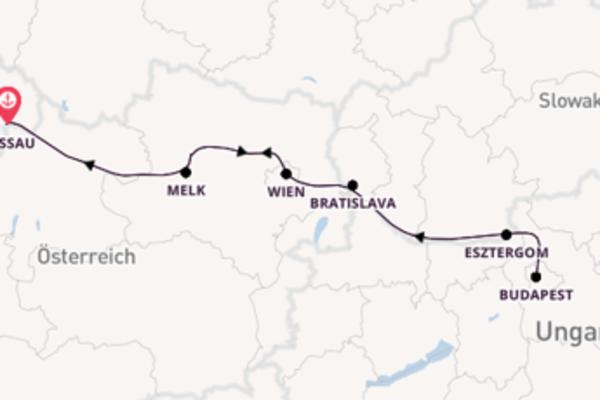 Spannende Reise ab Passau, Deutschland
