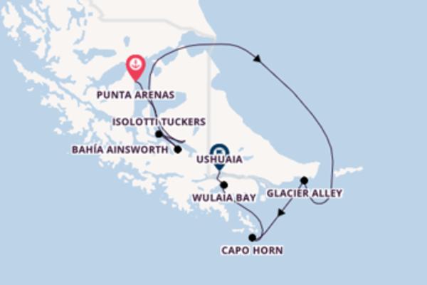 I fiordi della Terra del Fuoco a bordo di Stella Australis