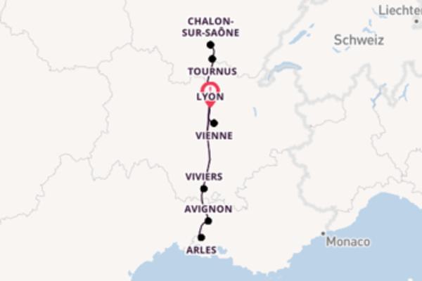 Herrliche Kreuzfahrt über Viviers ab Lyon