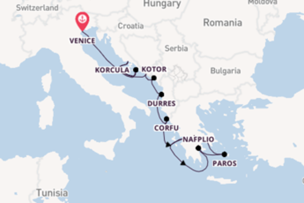 13 day journey to Athens (Piraeus) from Venice