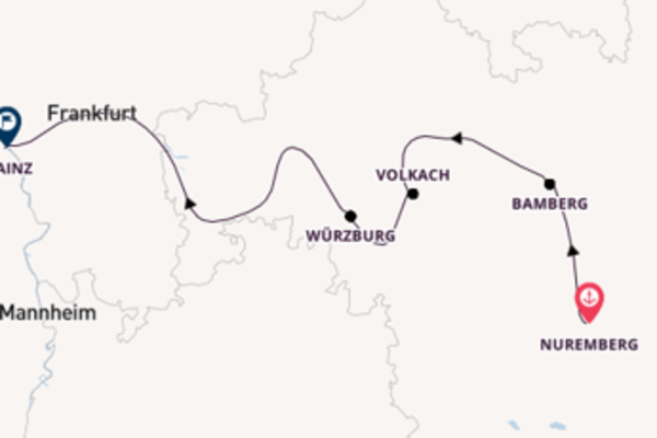 Sailing to Mainz from Nuremberg