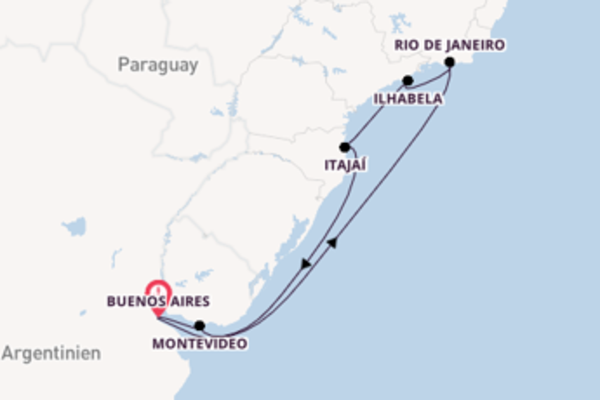 Großartige Reise über Itajaí in 9 Tagen