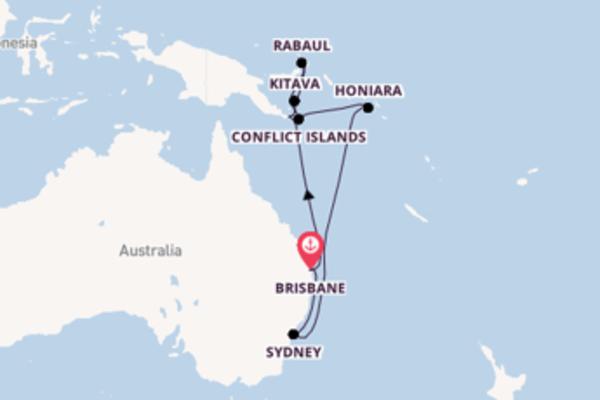 16 day cruise from Brisbane, Australia