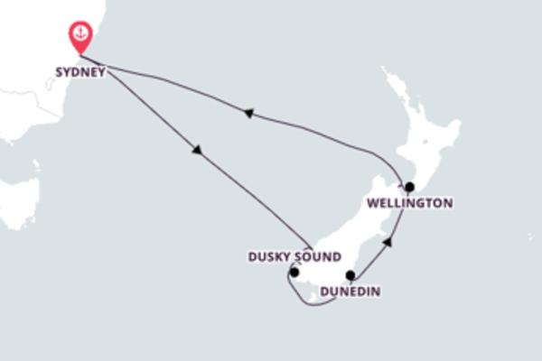 A bordo do Ovation of the Seas em um cruzeiro de 10 dias