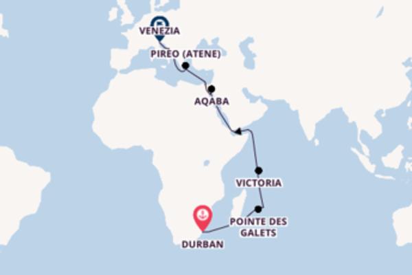 Vivace viaggio di 25 giorni verso Venezia
