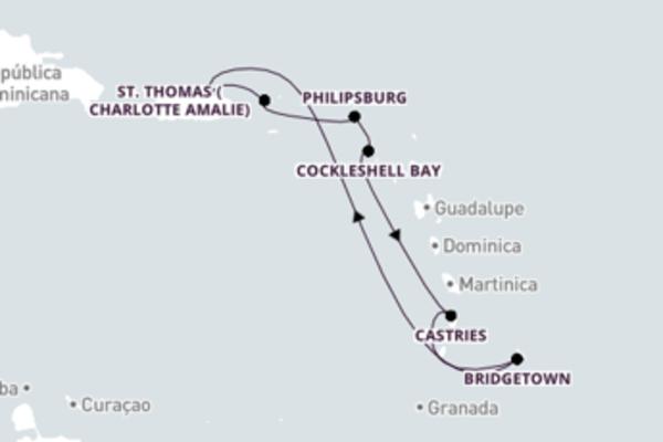 Formidável cruzeiro até San Juan