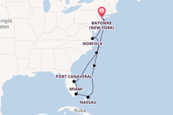 Von Bayonne (New York) über Nassau in 11 Tagen