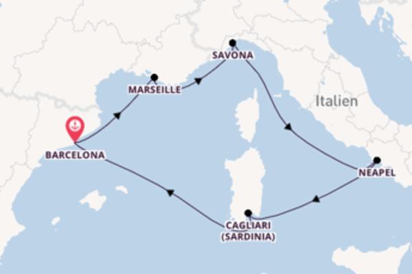9 Tage Mittelmeer Reise