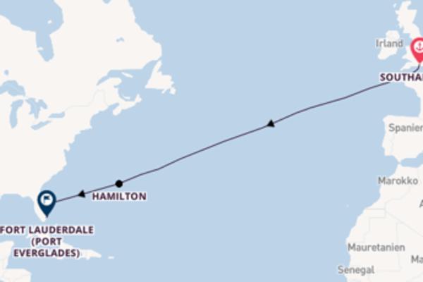 Über den Atlantik ab Southampton