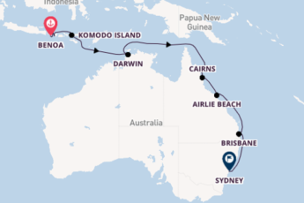 Sailing with the Norwegian Spirit  to Sydney from Benoa