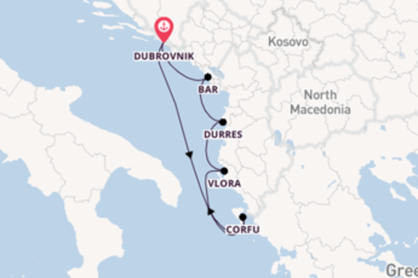 Iconic trip from Dubrovnik with CroisiEurope