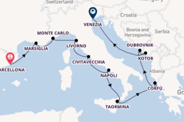Navigando da Barcellona verso Livorno