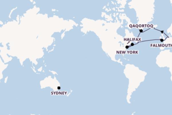 Erkunden Sie Bremerhaven, Montreal und Falmouth