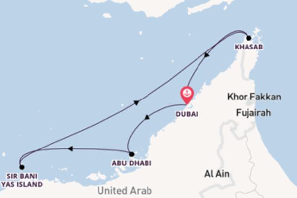 Cruising from Dubai with the MSC Opera