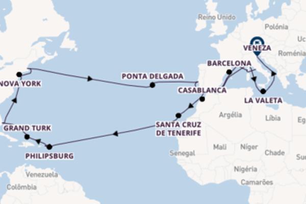 Excelente viagem de 44 dias até Veneza