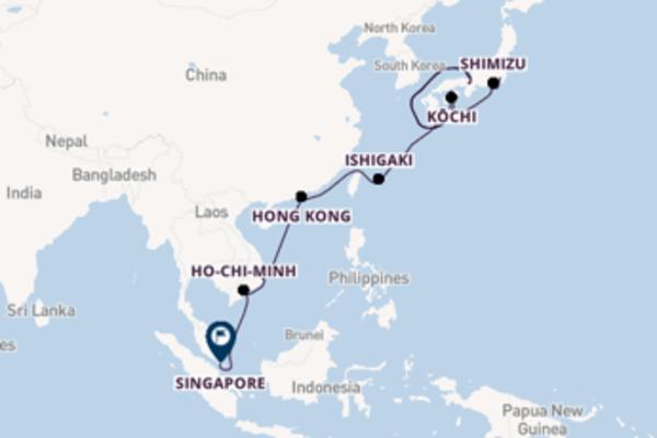 Rilassante crociera di 14 giorni verso Hong Kong a bordo di Celebrity Solstice