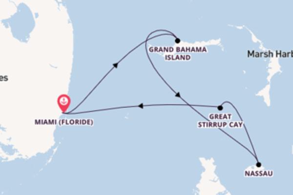 5 jours pour découvrir Great Stirrup Cay au départ de Miami