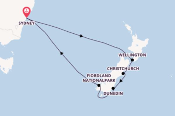 11-tägige Kreuzfahrt ab Sydney