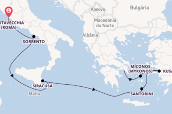A bordo do Azamara Pursuit em um cruzeiro de 8 dias
