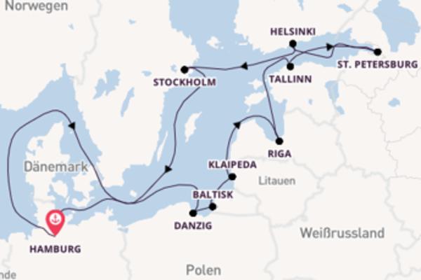 Großartige Kreuzfahrt mit der MS Hamburg