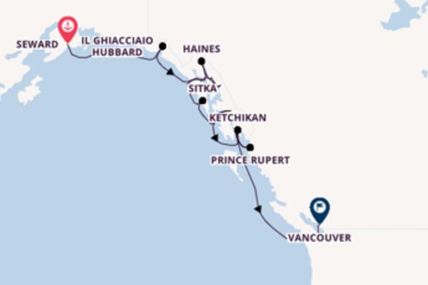 Navigando da Seward verso Sitka