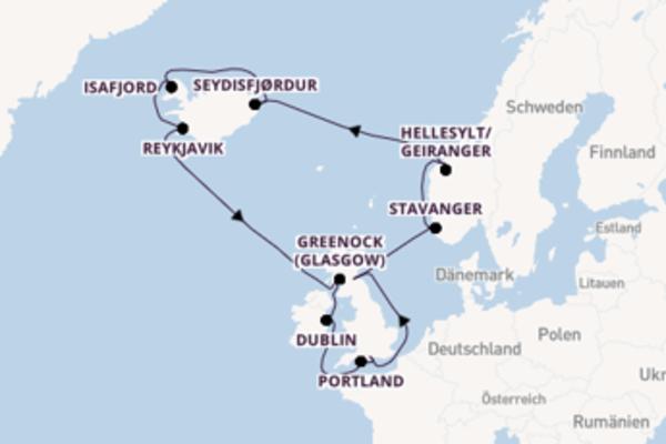 Außergewöhnliche Reise über Ålesund in 15 Tagen