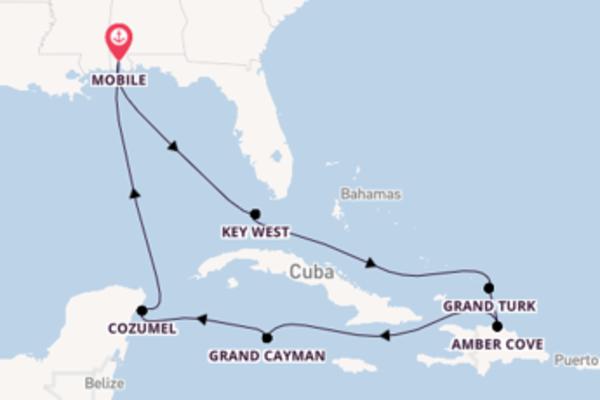 Cruise in 11 dagen naar Mobile met Carnival Cruise Line