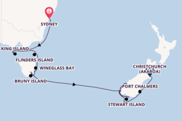 Cruise with the Crystal Endeavor to Christchurch from Sydney