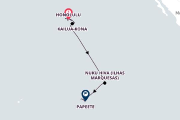 Sensacional viagem até Papeete