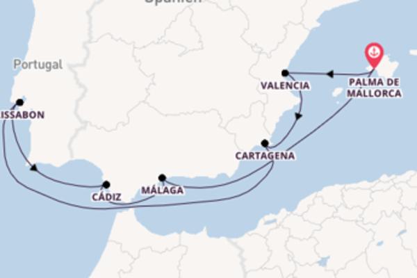 Einzigartige Kreuzfahrt über Cádiz ab Palma de Mallorca