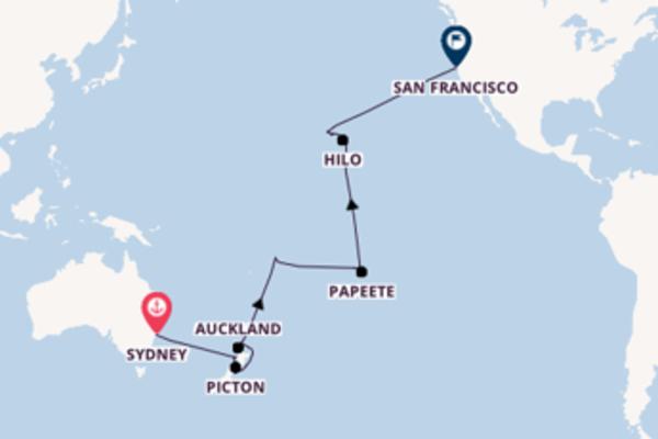 A bordo di Sapphire Princess fino a San Francisco