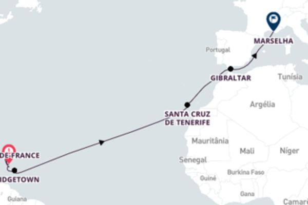 Surpreendente passeio de 15 dias até Marselha
