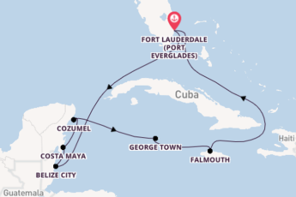 9 day cruise from Fort Lauderdale (Port Everglades)