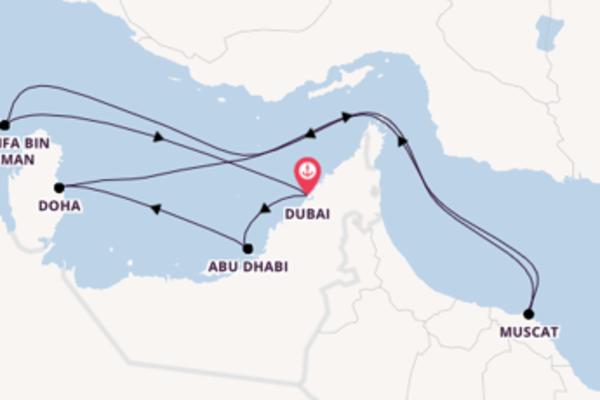 Wunderbare Reise über Abu Dhabi in 11 Tagen