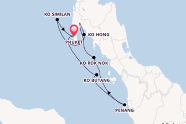 Ga mee op de Star Clipper naar Phuket, Thailand