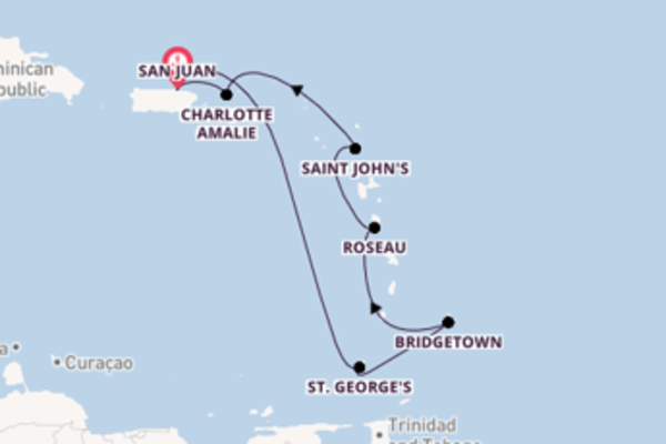 Navigando da San Juan verso Saint John's