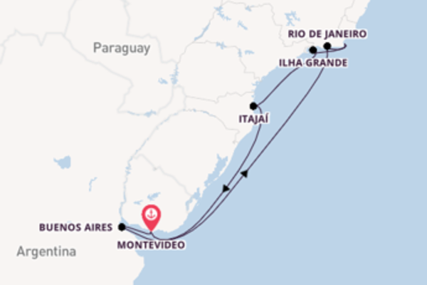 10 day voyage on board the MSC Sinfonia from Montevideo